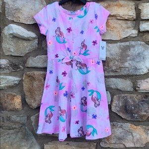 Disney Little Mermaid Pink Dress girls size 6 NEW